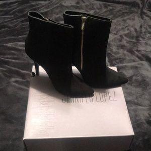 Jennifer Lopez Black Ankle Heel Boots women's 9